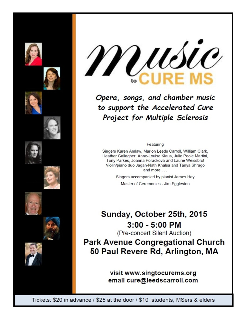 2015 Music to Cure MS Poster